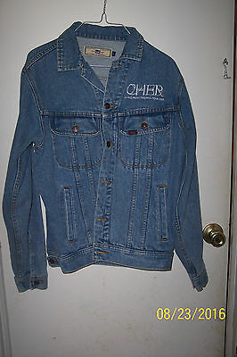 Very Rare Cher Living Proof Farewell Tour 2002 Denim Jacket Lee Size Small