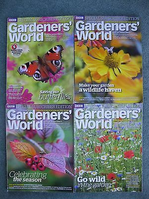 Bundle x 4 2014/5 BBC Gardeners World Subscribers Edition magazines