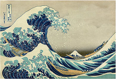 Japanese Art: Great Kanagawa Wave (gray sky version) -  Fine Art Reproduction