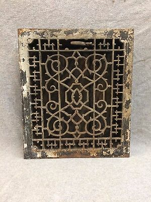 Antique Cast Iron Heat Grate Vent Register Old Decorative Vintage 10x12 2158-16
