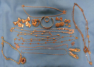 All Signed AVON Lot Vintage Brooch Necklace Earrings Bracelet Breast Cancer Pins