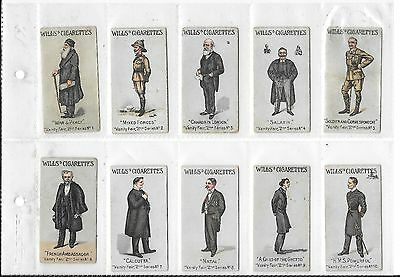 Vanity Fair 2nd series COMPLETE (50 cards) Wills Cigarette cards