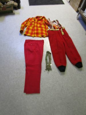 Vintage  Snow Ski Outfit Wool Woolrich Chippewa 1940s Hunting Cabin
