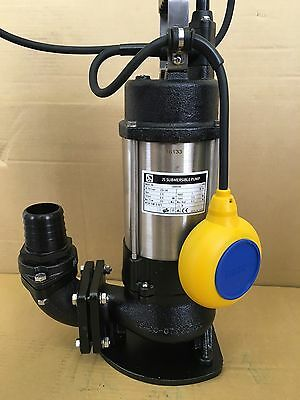 "2"" Heavy duty Submersible sewage sump pump slurry, wastewater cesspit JS400SV"