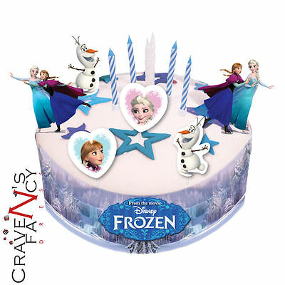 Disney Frozen Birthday Cake Decorating Kit Party with Candles Figures Ribbon New