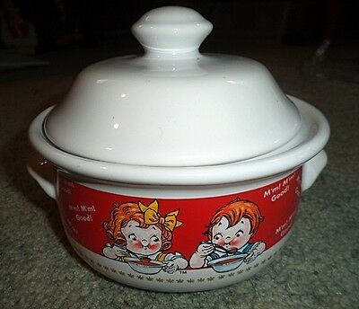Campbell's Soup Collectible Soup Bowl & Lid 1998 -  Kids  with Soup