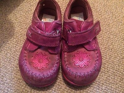 Clarks First Shoes Infant Size 5.5 G Pink Leather Baby/toddler/girls