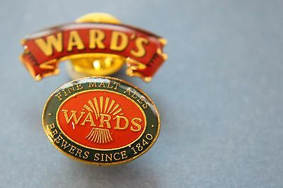 2 x wards brewery 1840  tie or lapel  pin badges.