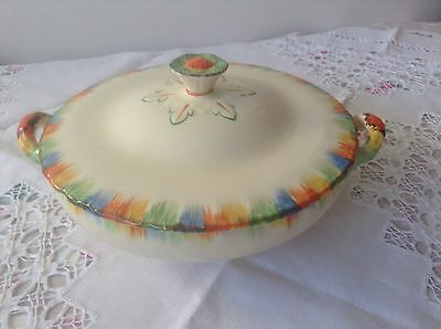 Art Deco Grindley hand painted Tureen with Lid Chameleon design