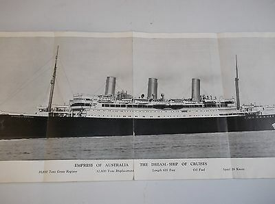 7th ANNUAL ROUND THE WOLD CRUISE-EMPRESS of AUSTRALIA this book 87 years old.
