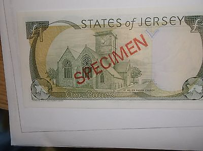 Jersey Specimen Banknote £1.00 Serial ADC 000000