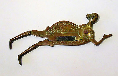 Antique Brass or Bronze Erotic Lady Betel Nutracker / Nut Crackers 19th Century