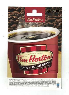Tim Hortons NEW 2016 USA Hanger $15 - $100 Red Coffee Cup Gift Card FD53478