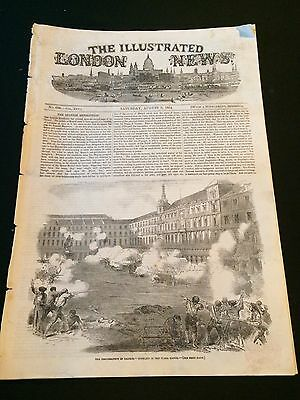 """Original """"The Illustrated London News"""" Saturday August 5th 1854 (12 Pages)"""