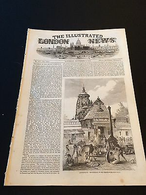 """Original """"The Illustrated London News"""" Saturday 5th September 1857 (24 Pages)"""