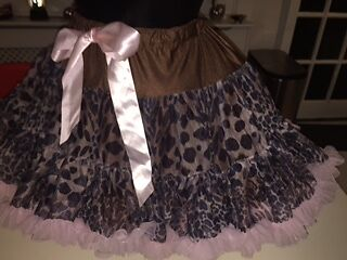 Angel's face - Leopard print Tutu - size 8-10 years