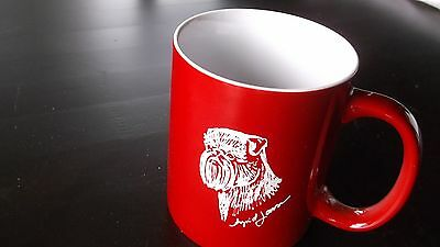 Brussels Griffon- Hand engraved Ceramic Coffee Mug by Ingrid Jonsson