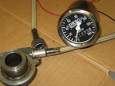 """harley mini speedometer with cable and drive 21"""" wheel sportster bobber glide"""