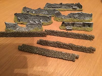 warhammer Scenery Terrain Walls and Hedges, 9 Pieces In Total, Games Workshop