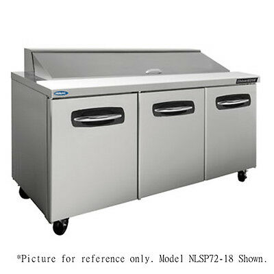 "Norlake NLSP72-18-004 72.38"" Sandwich/Salad Refrigerated Counter- Doors/Drawers"