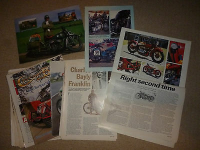 Indian Motorcycles (USA) technical & historical literature-20 items!-will split