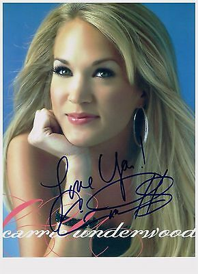 Carrie Underwood 8.5 x 11  Sexy Authentic Hand Signed Autographed Photo W/ COA
