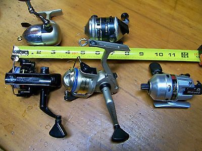 Lot of 5 Ultra Light,Daiwa Mini 2,Zebco RL3,Shakespeare Spinning Ready To Fish!