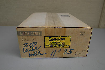 "Powis Parker Binder Strips White 11"" Wide quantity 300 FASTBACK"
