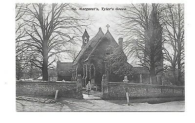 TYLERS GREEN Chepping Wycombe Buckinghamshire Postcard St Margaret's Church