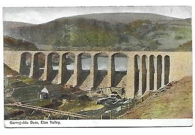 ELAN VALLEY Garreg-ddu Dam Early Postcard
