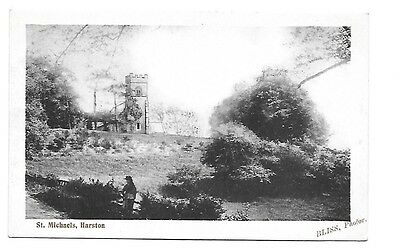 HARSTON St Michael's near Leicestershire Early Postcard