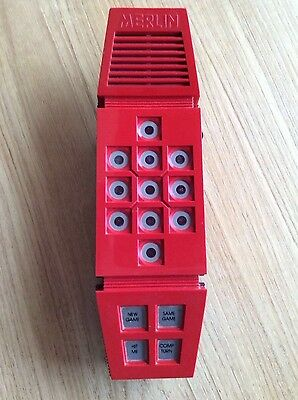 vintage merlin electronic game with rare original adaptor