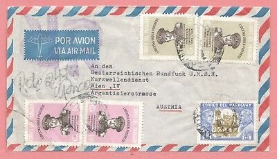 1954 Paraguay Multi Franked Airmail Cover To Austria
