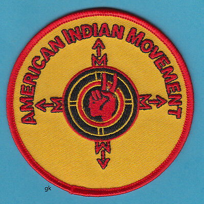 Aim American Indian Movement Compass  Patch.