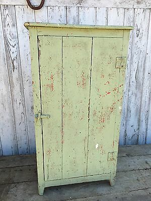 Vintage French Cupboard Shabby Light Green