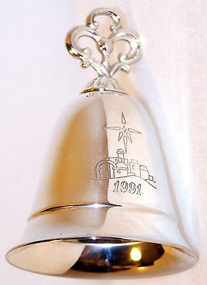 Estate 1991 Kirk Stieff ANNUAL Silver MUSICAL Christmas BELL Ornament The First