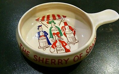 Vintage Gonzalez Byass Advertising Ashtray Sherry of Spain by HCW