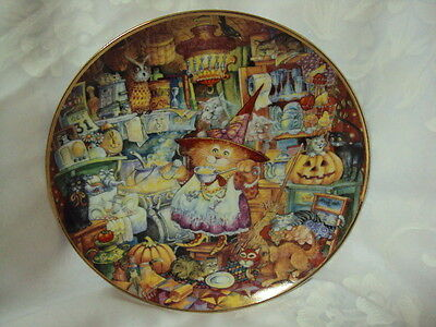 Scaredy Cats Halloween Plate by Bill Bell Limted Edition Franklin Mint #HG 3161