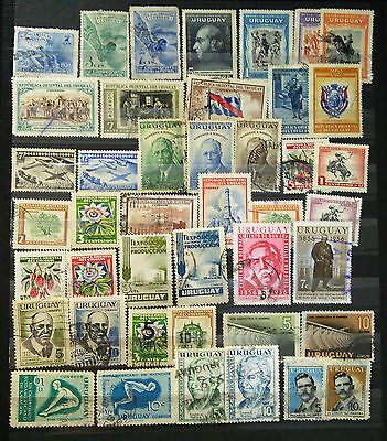 Uruguay Stamp Collection - 1950's Only