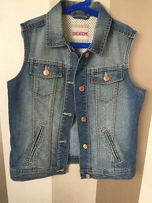 Girls Denim Gilet 12 13 Years
