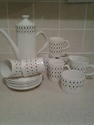 Retro Staffordshire crown clarence coffee set