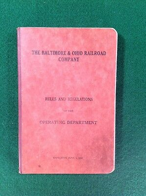 The Baltimore & Ohio Railroad Company Rules And Regulations 1941 Book