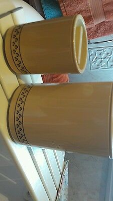 2 Marks And Spencers Storage Jars/containers  .beige