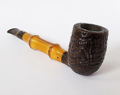 Vintage DUNHILL BAMBOO W60 F/T EXc4 S ESTATE PIPE c1980
