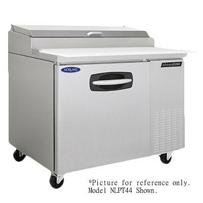 Nor-Lake NLPT44-001 Pizza Prep Table Refrigerated Counter with 2 Drawers
