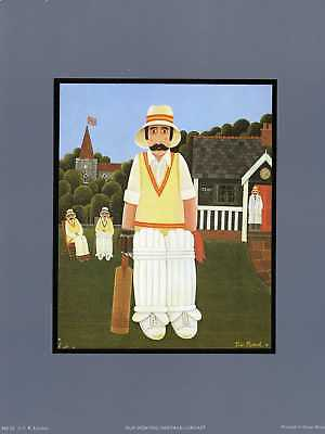 OUR SPORTING HERITAGE, (CRICKET)unmounted print new