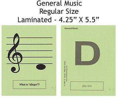 Guitar Regular Laminated Flashcards