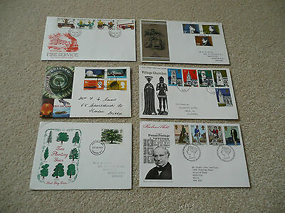 6 x GB First Day Covers (Lot 8)