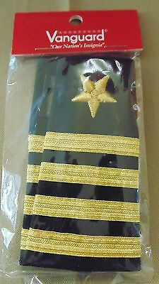6855024d3f6 Usn Us Navy O-6 Capt Captain Service Dress Slip-On Epaulet Shoulder Slide
