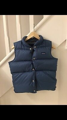 Penfield Gilet, Blue & Grey, Size Small, Duck Down Feather